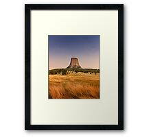 Devils Tower at Sunset  Framed Print