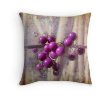 Purple berries Throw Pillow
