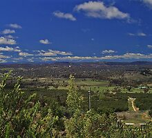 View from on top of Mt. Stromlo towards Canberra  by archieswell