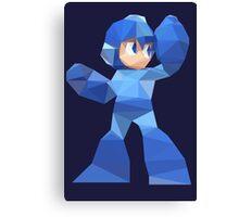 """""""De-Rezzed Mega Man"""" - Low Polygon Art Canvas Print"""