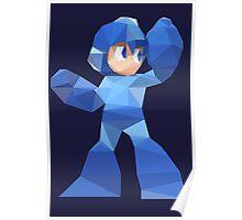 """""""De-Rezzed Mega Man"""" - Low Polygon Art Poster"""