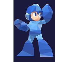"""De-Rezzed Mega Man"" - Low Polygon Art Photographic Print"