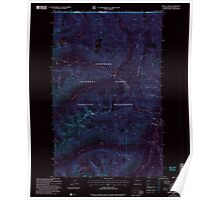 USGS Topo Map Washington State WA Frosty Creek 241236 2002 24000 Inverted Poster