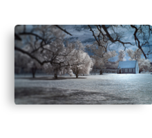 Chapel in the Moonlight Canvas Print