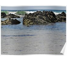 Rocky Waves Poster