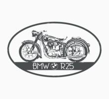 BMW R25 - grey print by Benjamin Whealing