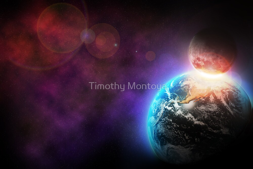 Space Collision by Timothy Montoya
