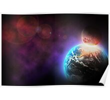 Space Collision Poster