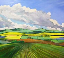 South Australian Canola fields via Yacka # 4 by Virginia McGowan