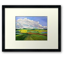 South Australian Canola fields via Yacka # 4 Framed Print