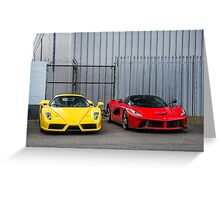 Ferrari Enzo & LaFerrari  Greeting Card