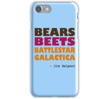 Custom - Bears Beets Battlestar Galactica iPhone Case/Skin