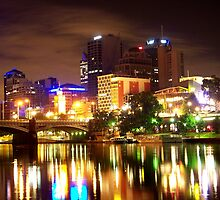 Melbourne at Night 6584 by Kayla Halleur