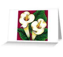 Arum Lilies Greeting Card