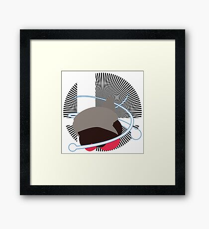 Wii Fit Trainer (Kirby Hat) - Sunset Shores Framed Print