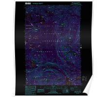 USGS Topo Map Washington State WA Spiral Butte 243896 1988 24000 Inverted Poster