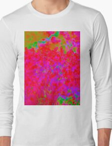 Psychedelic Floral Design Long Sleeve T-Shirt