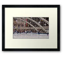 Skating at Holiday Time in Nathan Phillips Square, Toronto Framed Print