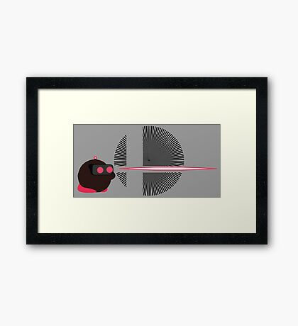ROB (Kirby Hat) - Sunset Shores Framed Print