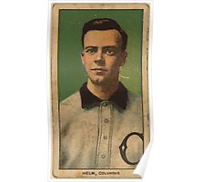 Benjamin K Edwards Collection Ross Helm Columbus Team baseball card portrait Poster