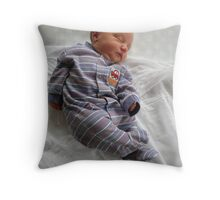 Sebastian newborn Throw Pillow