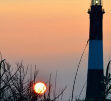 Lighthouse & Sun | Fire Island, New York Sticker