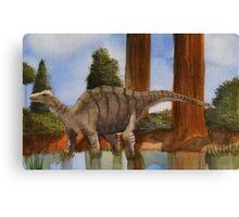 Dinosaur Reflections Canvas Print