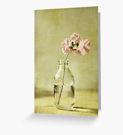 Fleurs roses Greeting Card