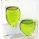 Green Pots  by ROSEMARY EAGLE