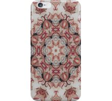ornate red -N53 iPhone Case/Skin