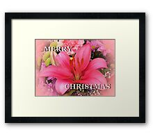 Pink for Christmas Framed Print