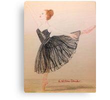 Ballerina, Black Tutu Canvas Print