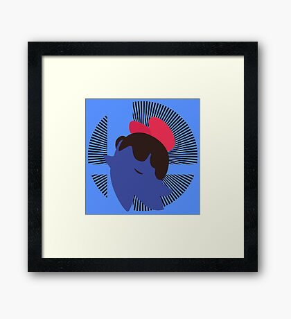 Sonic (Kirby Hat) - Sunset Shores Framed Print