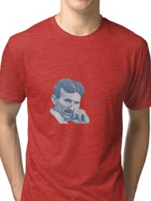 Nikola Tesla, ladies man. Tri-blend T-Shirt