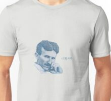 Nikola Tesla, ladies man. Unisex T-Shirt