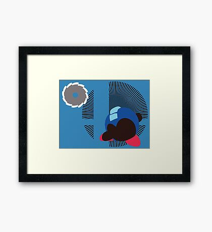 Mega Man (Kirby Hat) - Sunset Shores Framed Print