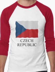 Czech Republic flag Men's Baseball ¾ T-Shirt