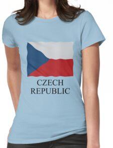 Czech Republic flag Womens Fitted T-Shirt