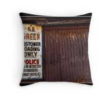 Customer Loading Only Throw Pillow