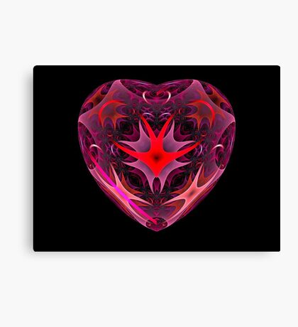 Curled Heart Canvas Print