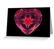 Curled Heart Greeting Card
