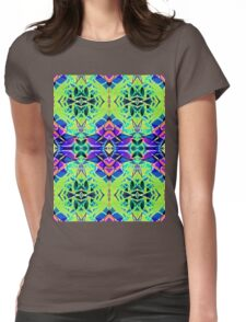 Floral Geometric Pattern Womens Fitted T-Shirt