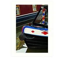 Narrow boats, Gloucester, UK Art Print