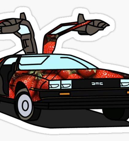 Organic Delorean Sticker