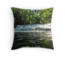 Centrale Massif river Throw Pillow