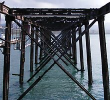 Old iron wharf at Moeraki, New Zealand by Paul Watson
