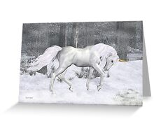 Frost .. the Winter Unicorn Greeting Card