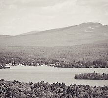 Black and White Mountain Waterscape by Sarah Van Geest