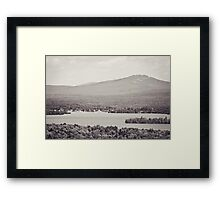 Black and White Mountain Waterscape Framed Print