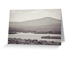Black and White Mountain Waterscape Greeting Card